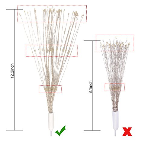STYDDI LED Starburst Fairy String Lights, 8 Modes 150 LED Firework Spray Bouquet Shape Battery Operated Decorative Lights with Remote Control for Bedroom, Corridor Patio, Garden, Patio, Wedding, Part by STYDDI (Image #3)