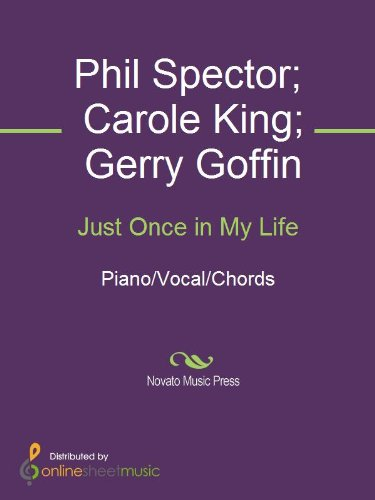 Just Once In My Life Kindle Edition By Carole King Gerry Goffin