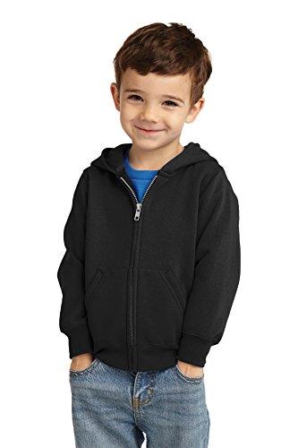 Precious Cargo unisex-baby Full Zip Hooded Sweatshirt 2T Jet Black