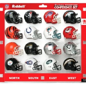 Revolution Pro Helmet Nfl Pocket (AFC Conference (16pc.) Revolution Style Pocket Pro NFL Helmet Set by Riddell)