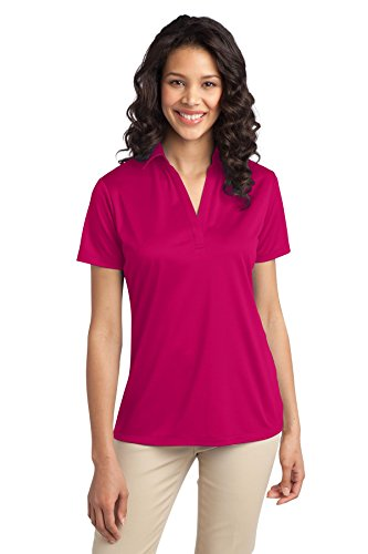Port Authority Women's Silk Touch Performance Polo L Pink Raspberry ()