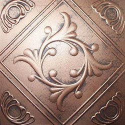 Ceiling Tile - Faux Like Tin - Anet Antique Copper Graphite 20x20 Antique Ceilings