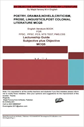 Buy A Superb Book of English Literature Subjective Plus