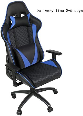 Delivery Time 2 to 5 Days Gaming Chair Video Game Chair Ergonomic Computer Chair 90-180 Angle Adjustable Backrest with Headrest Lumbar Support Pu Leather Rebound Sponge