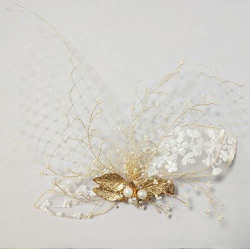 SWEETV Wedding Hair Clip Comb Veil for Bridesmaid Birdal Hair Accessories -