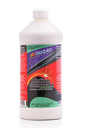 Turbo Wax Medium Cut Compound 32oz Bottle, Professional Grade Abrasive that Removes Scratches, Swirls, Water Spots & Wet Sanding - Removes Wax Scratches That