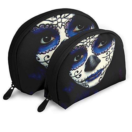 Makeup Bag Guy Sugar Skull Makeup Portable Shell Makeup Case For Women Halloween Gift 2 -