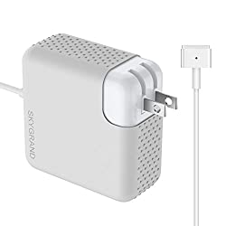 Macbook Pro Charger, SkyGrand Replacement 60W Magsafe 2 T Shape Connector AC Power Adapter for Macbook Pro with 13-inch Retina display - After Late 2012