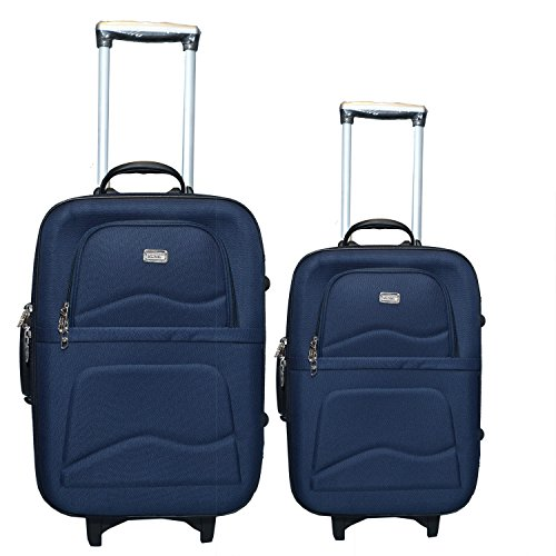 VIDHI Fabric Cabin and Check in Luggage Combo Set  24 Inches, Blue    Pack of 2