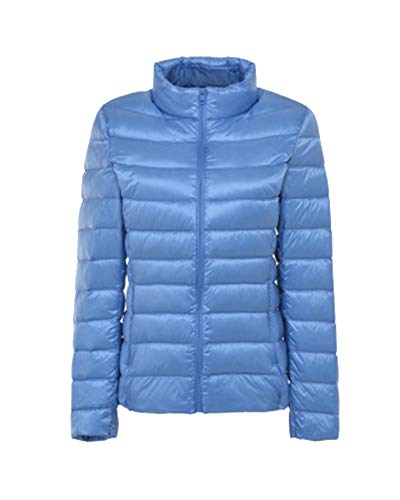 Collar Womens Lightweight Jacket Slim Warm Coats LaoZanA Blue2 Down Stand g0wqUWB