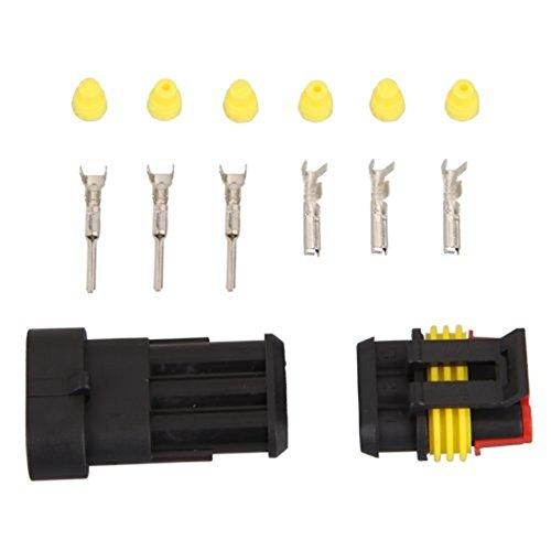 spina - SODIAL(R) 1 Set 3 Pin Toy Car Connettore impermeabile per crogiolo di automobile LEPACA148