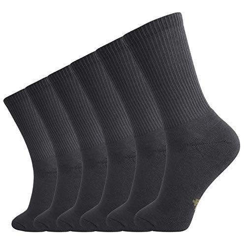 - +MD 6 Pack Womens Bamboo Crew Socks Extra Heavy Full Cushion Casual Socks Moisture Wicking Hiking Trekking Sports Socks 6Grey9-11