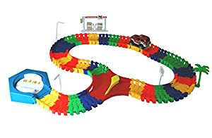 Super Snap Speedway - bend and flex track set with electric car, bridge feature and accessories - over 213 pieces