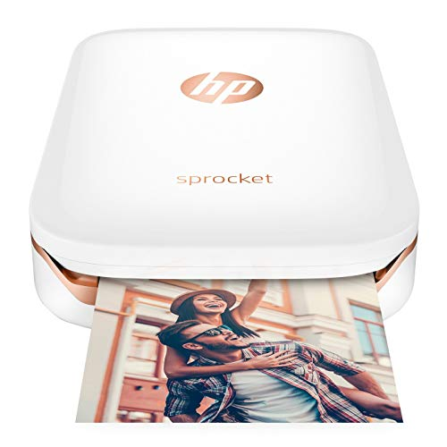 - HP Sprocket Z3Z91A#630 - Portable Photo Printer, Print Social Media Photos (5 x 7.6 cm), White