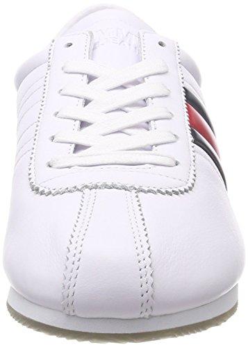 White Denim Sneaker da Flag Retro Ginnastica Bianco Basse Uomo Hilfiger 100 Scarpe AnqdvSxXvw