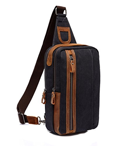 VASCHY Sling Bag, Mini Backpack Chest Pack One-Shoulder Cross-Body Pack for Outdoor Cycling Hiking