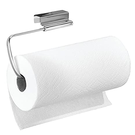 mDesign Soporte para rollo de papel de cocina - Portarrollos colgante - Práctico Dispensador de rollos para cocina para colgar - Color: acero: Amazon.es: ...