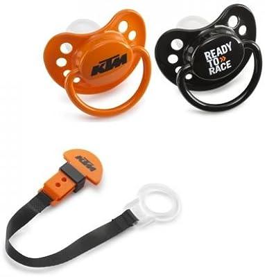 Juego de dos chupetes y una cinta para chupete, de KTM: Amazon.es ...