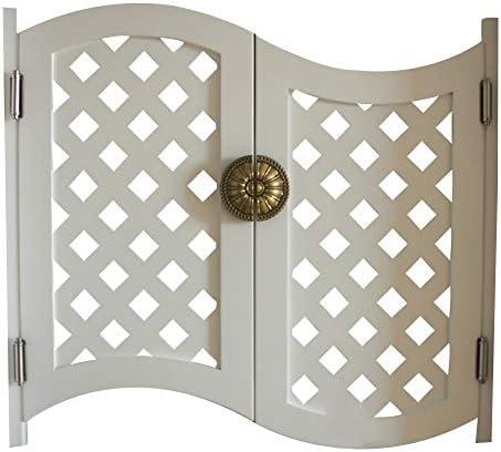 LIANGLIANG 回転カフェドア、アメリカの国ヨーロッパスタイルのガーデンバードアウエストドアフェンスドアカウボーイドアインテリアドアフリードア、カスタマイズ (Color : White, Size : 105x100cm)