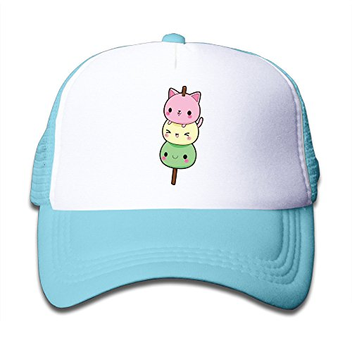 Henzhudi Kawaii Candy Unisex Grid Baseball Caps Adjustable Nice Icon Baseball Cap Customize SkyBlue