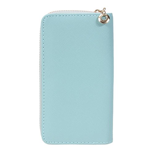 Bowknot Sky Wallets PU Ladies Green Coin Long Purses Clutch Blue Widewing Leather Women xnYBII4
