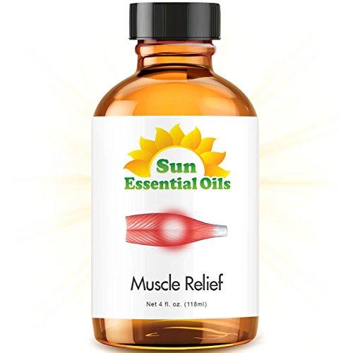 Deep Muscle Relief Blend - Large 4 Ounce Best Essential Oil (Wintergreen, Peppermint, Chamomile Blue, Eucalyptus & Camphor)