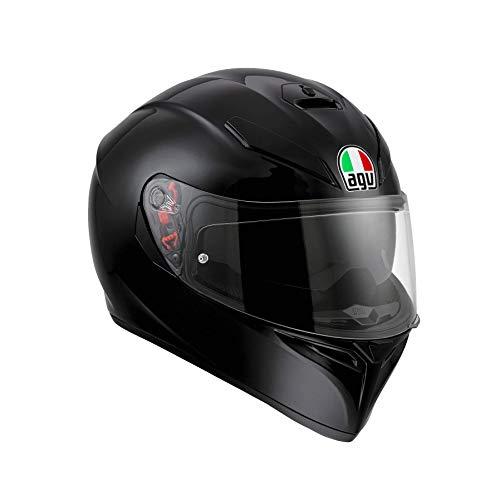 AGV Herren K3 Sv Agv E2205 Solid Mplk Motorrad Helm, Schwarz, S EU