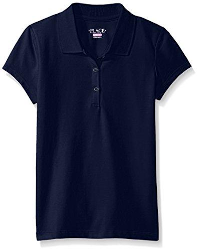 The Children's Place Girls' Little' Uniform Short Sleeve Polo, Tidal 3378, -