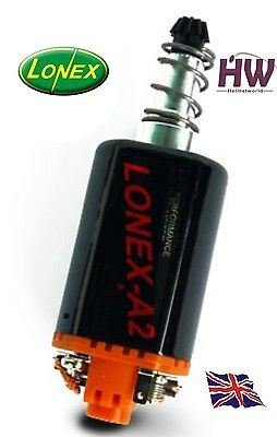 Lonex Airsoft AEG Motor HIGH Torque A2 Orange ASG Long M170 160 140 M120 M4 V2 @ Helmet World
