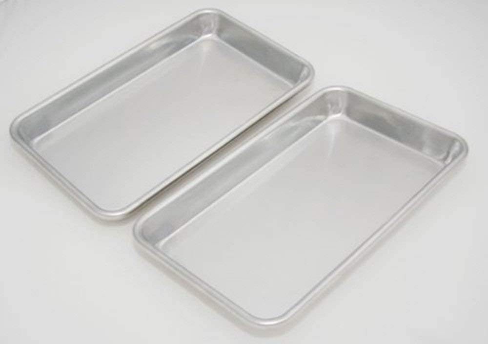"Libertyware Mini Sheet Pans-Set of 4-10""x 6""x 1.25"", 4 Pack, Aluminum"