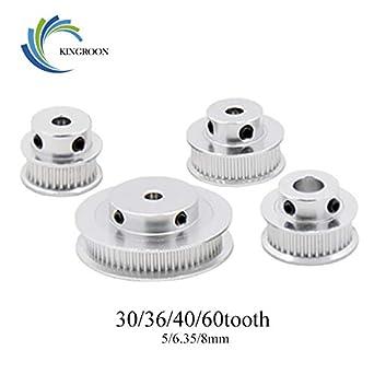 Impresora 3D - 10 piezas/lote GT2 polea de distribución 30 ...