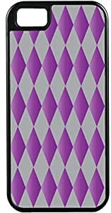 For LG G2 Case Cover Diy Gifts Cover Diamond Pattern Purple and Grey - Ideal Gift