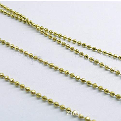 FidgetKute 50 Yards D/C Bling Raw Brass Faceted Ball Chain 1.2/1.5mm Bulk 1.2mm 50 Yards ()