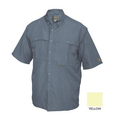 Drake Waterfowl Vented Wingshooter's Casual Shirt Yellow Short Sleeve