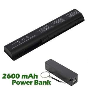 Battpit Bateria de repuesto para portátiles HP Pavilion dv9500z CTO (4400mah / 63wh) con 2600mAh Banco de energía / batería externa (negro) para Smartphone