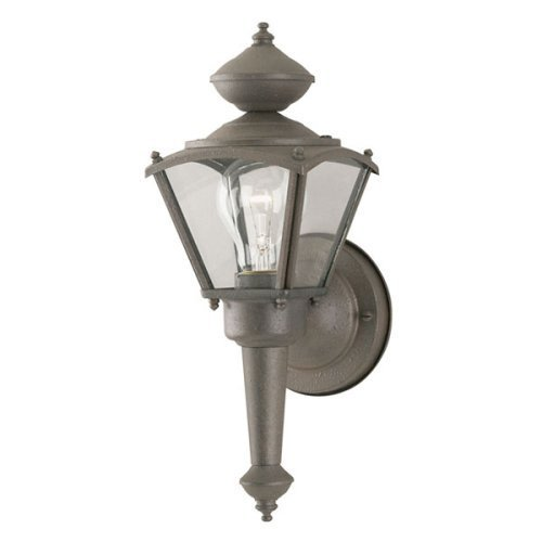 Westinghouse 6468700 One-Light Exterior Wall Lantern, Rust Patina Finish on Steel with Clear Glass Panels (Patina Rust Outdoor Fixtures Westinghouse)