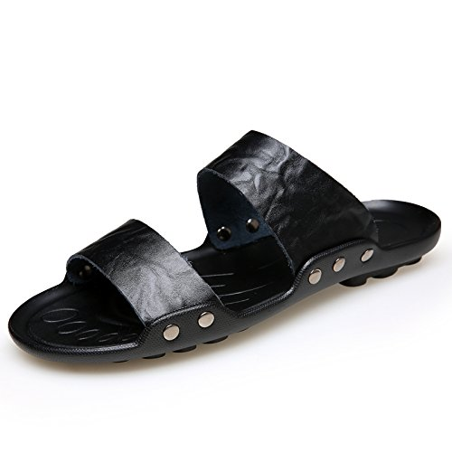 Xing Lin Sandalias De Hombre Zapatillas De Gran Tamaño 50 Hombres Verano Indoor Plus 47 Fertilizante Engrosada Cruz 48 Cool Zapatillas 45 Home 49 Extra Negro 46,40,335