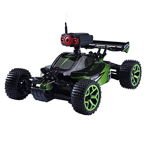 Inkach リモコンカー 0.3MPカメラ付きRCカー 高速オフロードトラック 電動レーシングカー 充電式バッテリー付き One Size グリーン