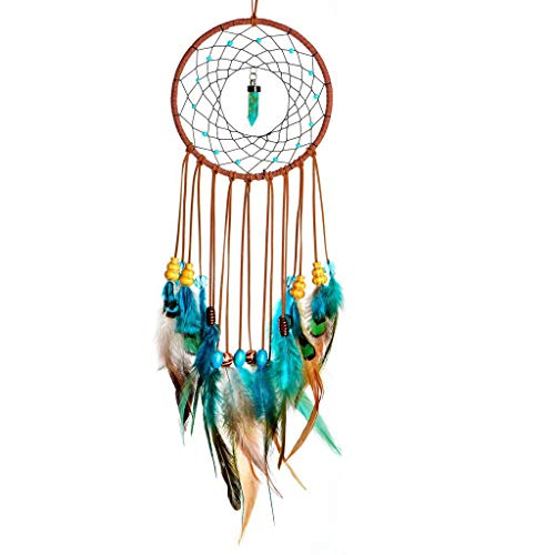 MEXIDAWN DIY Feather Dream Catcher Kits Wall Hanging BOHO Decor Handmade Kits for kids and Adults