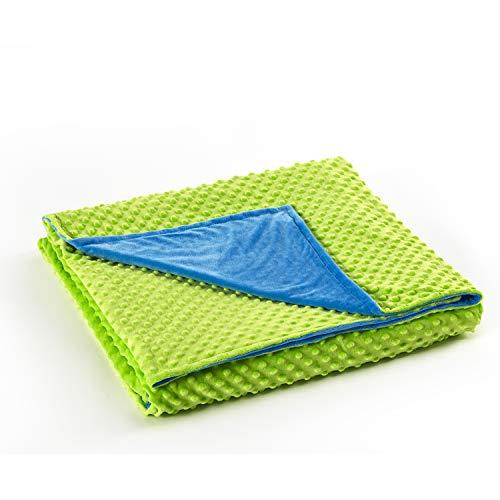 RelaxBlanket Duvet Cover for Weighted Heavy Blanket | 60''x80''| Premium Super Soft Minky Dot | Green/Blue | Duvet Cover ()