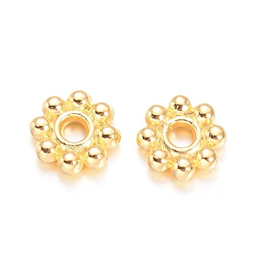 5mm Daisy Spacer Beads (Beads Direct USA Spacer Beads Daisy Flower Spacers 5mm x 2mm 300 Pcs (Gold Tone))