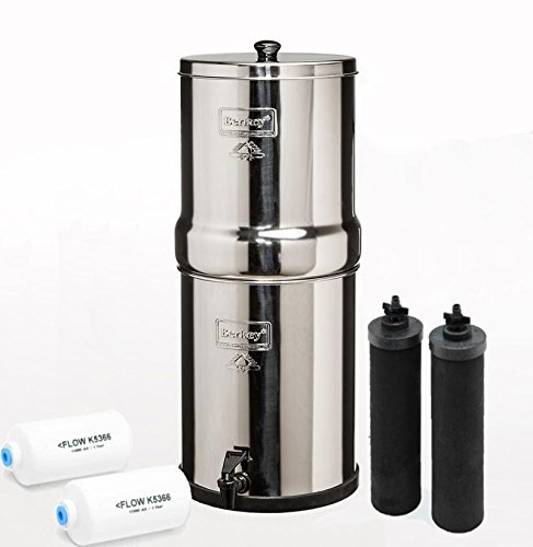 Big Berkey Bk4x2 Countertop Water Filter System With 2