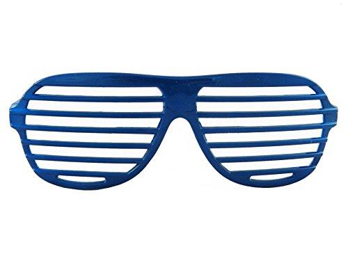 Kanye West Costume (80's Style Slat Glasses - Blue)
