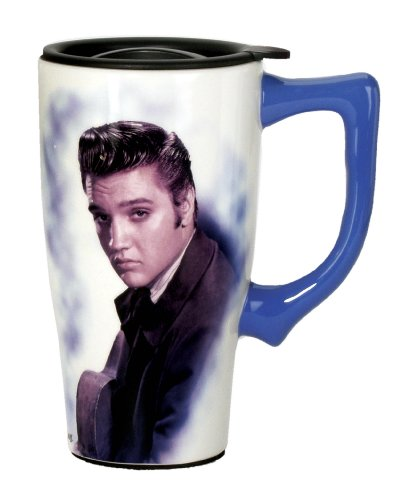 Elvis Presley Travel Mug, Blue