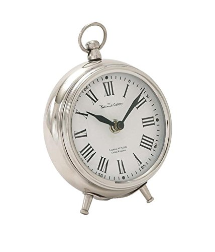 Deco 79 40688 Metal Table Clock ()