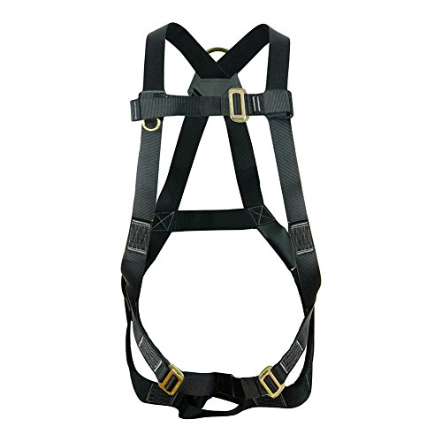 Fusion Climb Vertigo Basic Full Body Adjustable Zipline Harness 23kN M-L Black by Fusion Climb