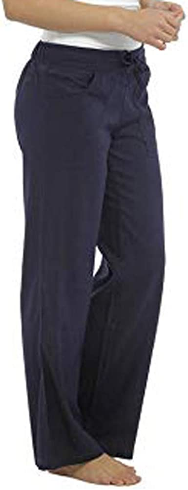Risthy Pantalones Lino Anchos De Piernas Anchas Bombachos Pantalon Lino Casual De Color Solido Talla Grande Pantalones De Trabajo Sueltos Elegante Ocasionales Para Mujer Amazon Es Ropa Y Accesorios