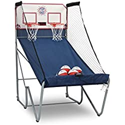 Official Pop-A-Shot – Home Dual Shot Basketball Arcade Game – 10 Individual Games – Durable Construction – Near 100% Scoring Accuracy – Multiple Height Settings – Large LED Scoring System
