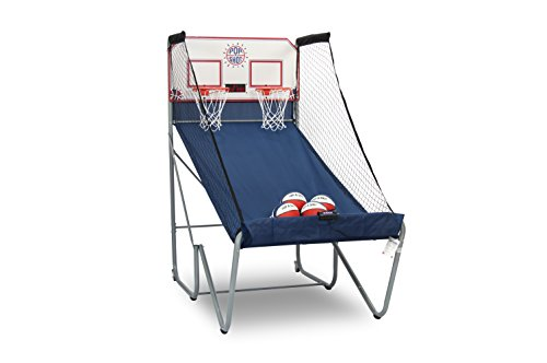 Official Pop-A-Shot – Home Dual Shot Basketball Arcade Game – 10 Individual Games – Durable Construction – Near 100% Scoring Accuracy – Multiple Height Settings – Large LED Scoring System (Indoor Arcade Basketball)
