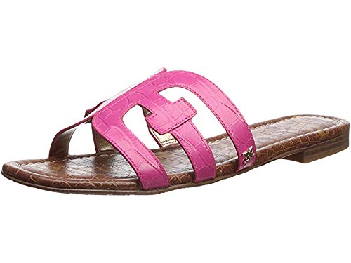 (Sam Edelman Women's Bay Pink Peony Suraze Large Croco Leather 6.5 W US)